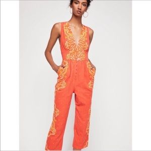 Free People | Setting Sun Printed Paisley Jumpsuit
